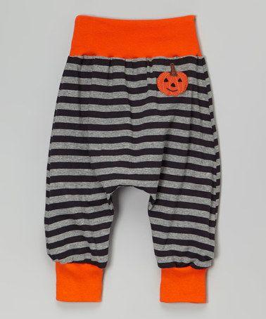 Love this Red & Black Stripe Pumpkin Harem Pants - Infant & Toddler on #zulily! #zulilyfinds