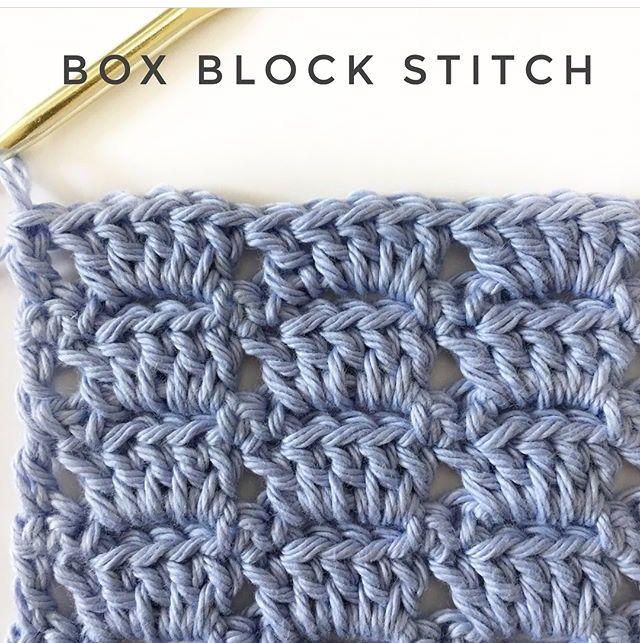 Box Block Stitch (Daisy Farm Crafts) | Ganchillo, Puntadas y Tejido