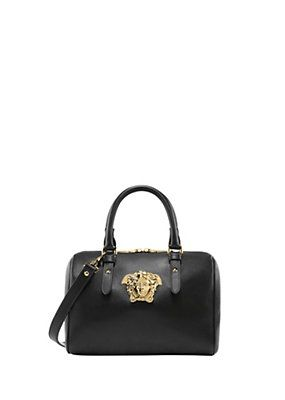 Medusa Palazzo leather satchel   Bags   Versace, Versace bag ... 1c2e2e28f5