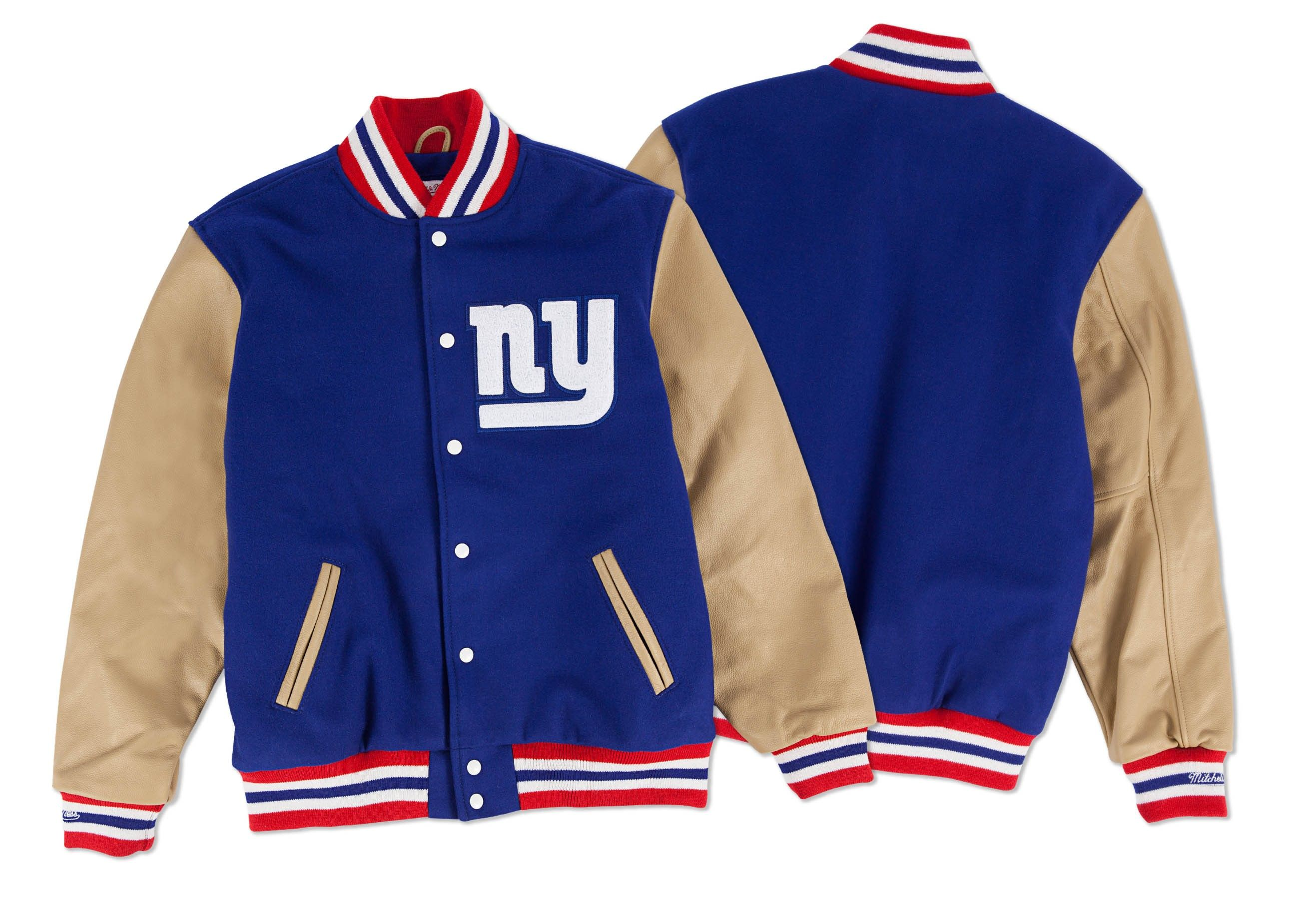wholesale dealer e7675 61819 Wool Jacket New York Giants - Shop Mitchell & Ness NFL ...