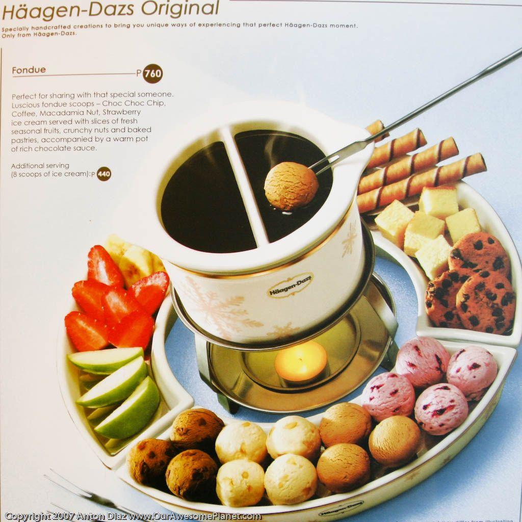 Haagen dazs fondue au chocolat