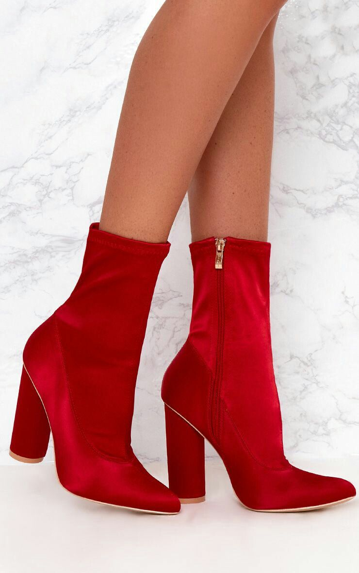 dcccf96bb9b Pin by Lisa Hill on Shoes in 2019 | Sock ankle boots, Red ankle ...