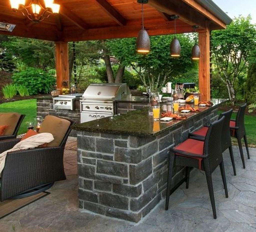 Outdoor Kitchen Ideas Plans: Awesome 47 Awesome Outdoor Kitchen Design Ideas You Will Totally Love. #