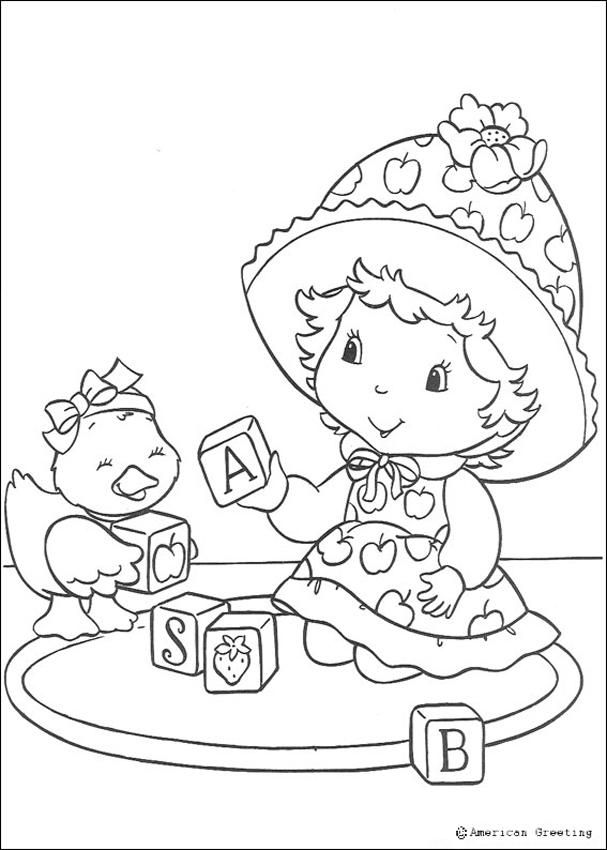 strawberry shortcake coloring pages | Coloring Pages | Pinterest ...