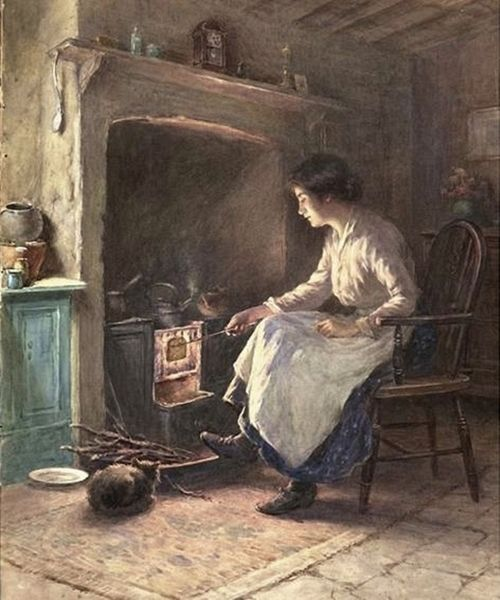 Hot Toast 1917 By English Painter William Kay Blacklock 1872 1924 I Bet There S Some Heavenly Fresh Butter