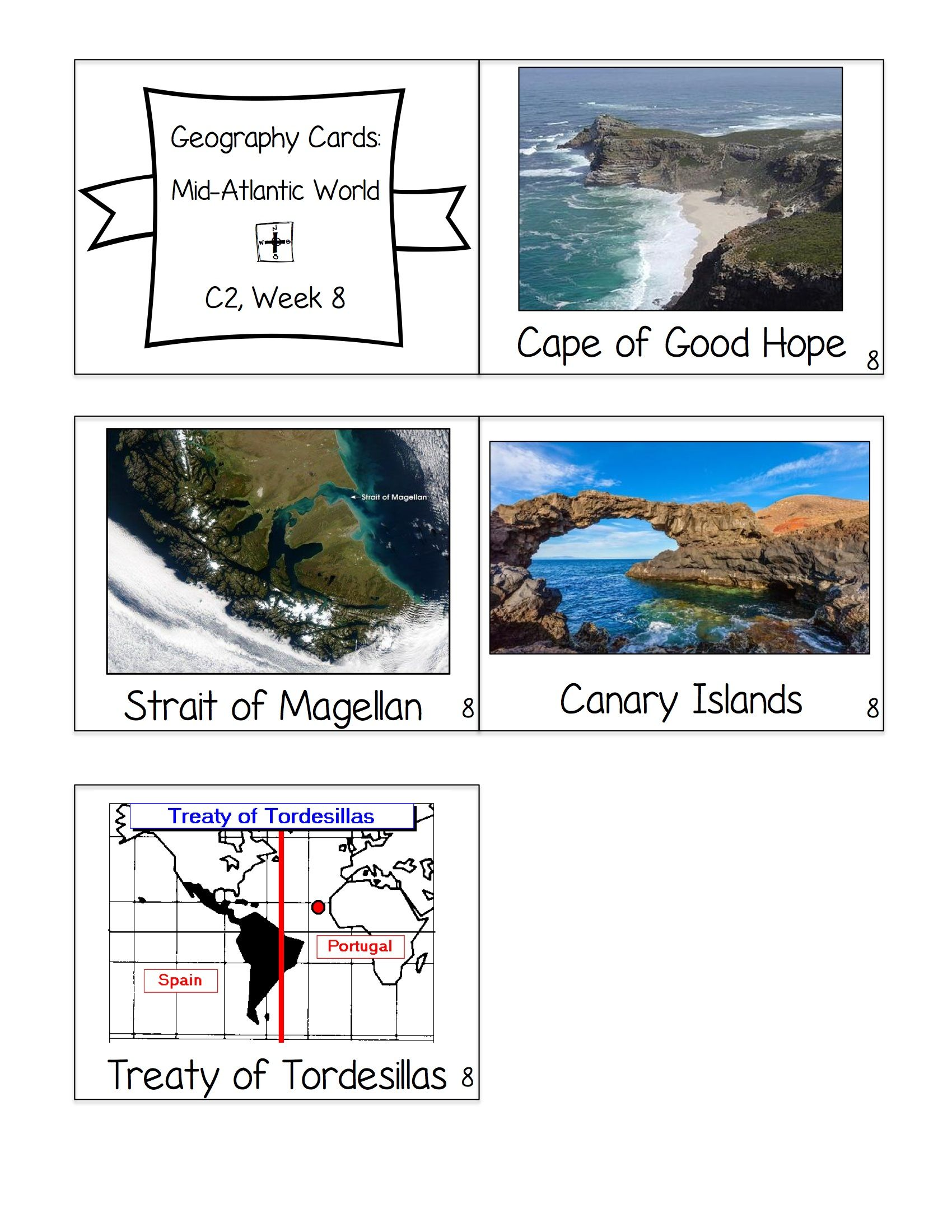 Cycle 2 Geography Cards