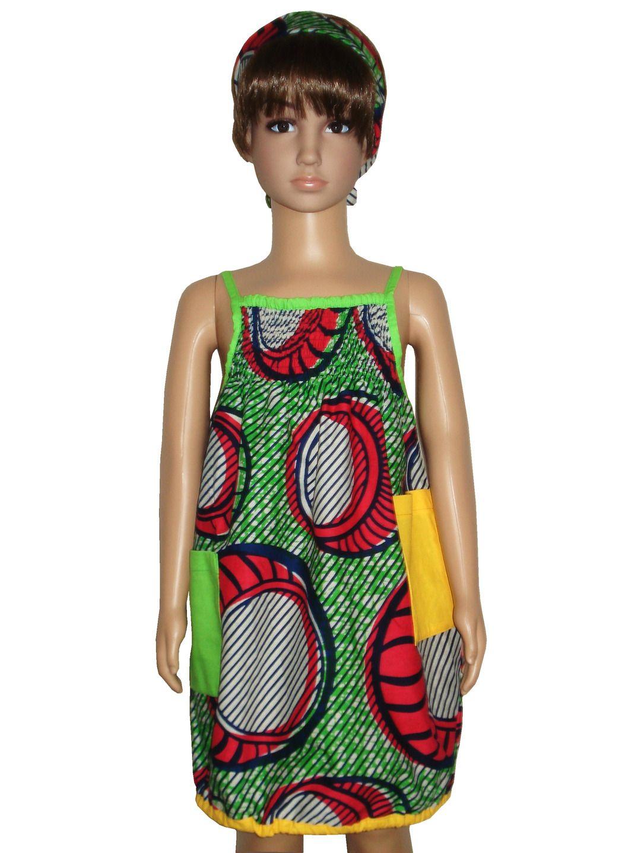 Robe Fille A Fines Bretelles Imprimee Pagne PRIX REDUIT Mode Filles Par Ecosap