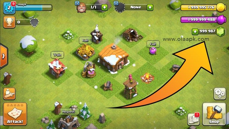 Clash Of Clans Apk Mod Townhall 13 Download For Android