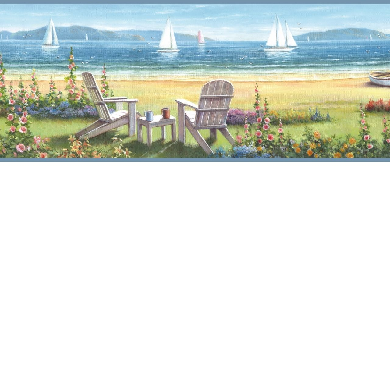 Borders By Chesapeake Seaside Cottage Wallpaper Border Bbc20021b Cottage Wallpaper Seaside Cottage Beach Cottages