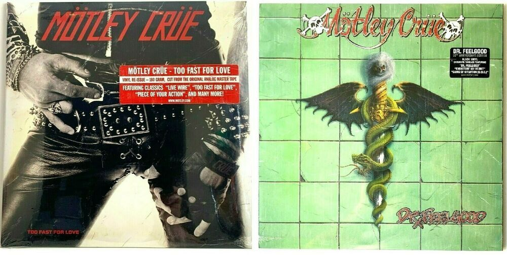 Details About Motley Crue Dr Feelgood Too Fast For Love Lp Vinyl Record Album Lot Of 2 New In 2020 Vinyl Record Album Too Fast For Love Vinyl Records