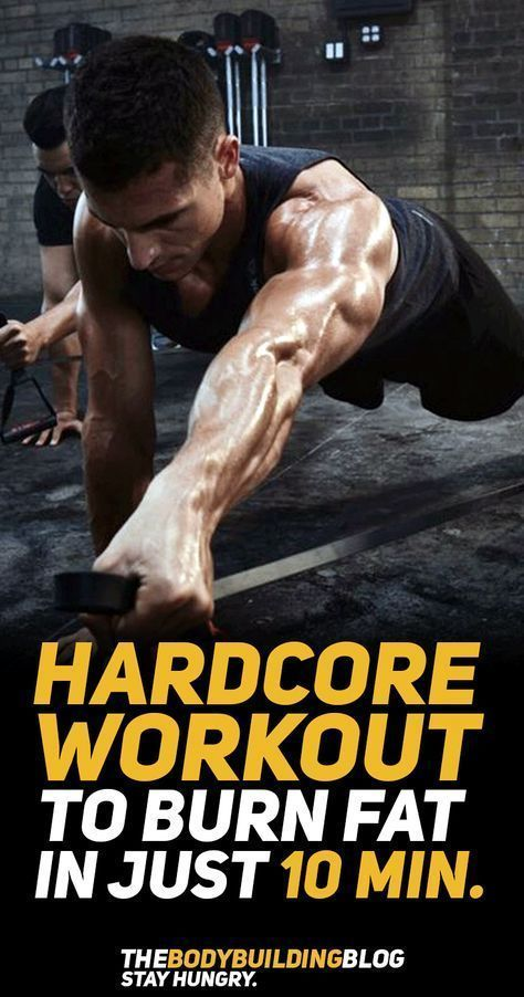 Take a look at this hard core workout that will help you burn fat in just 10 minutes at home! #fitne...