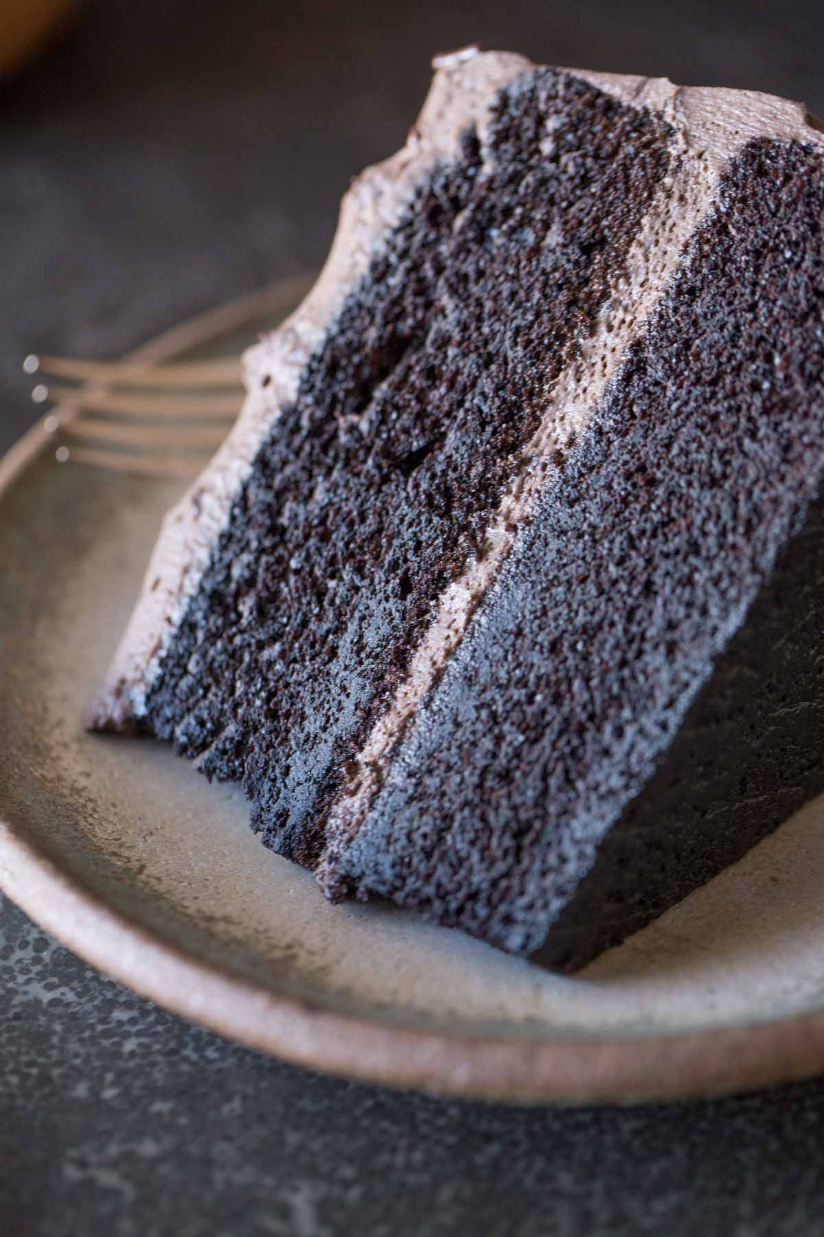 Dark Chocolate Cake With Whipped Cream Frosting Recipe In 2018