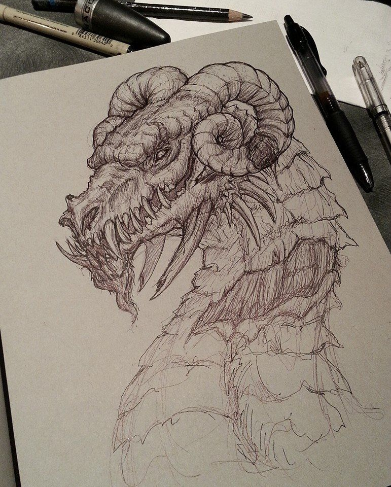 Photo of Dragon Pen Sketch by CrystalSully on DeviantArt