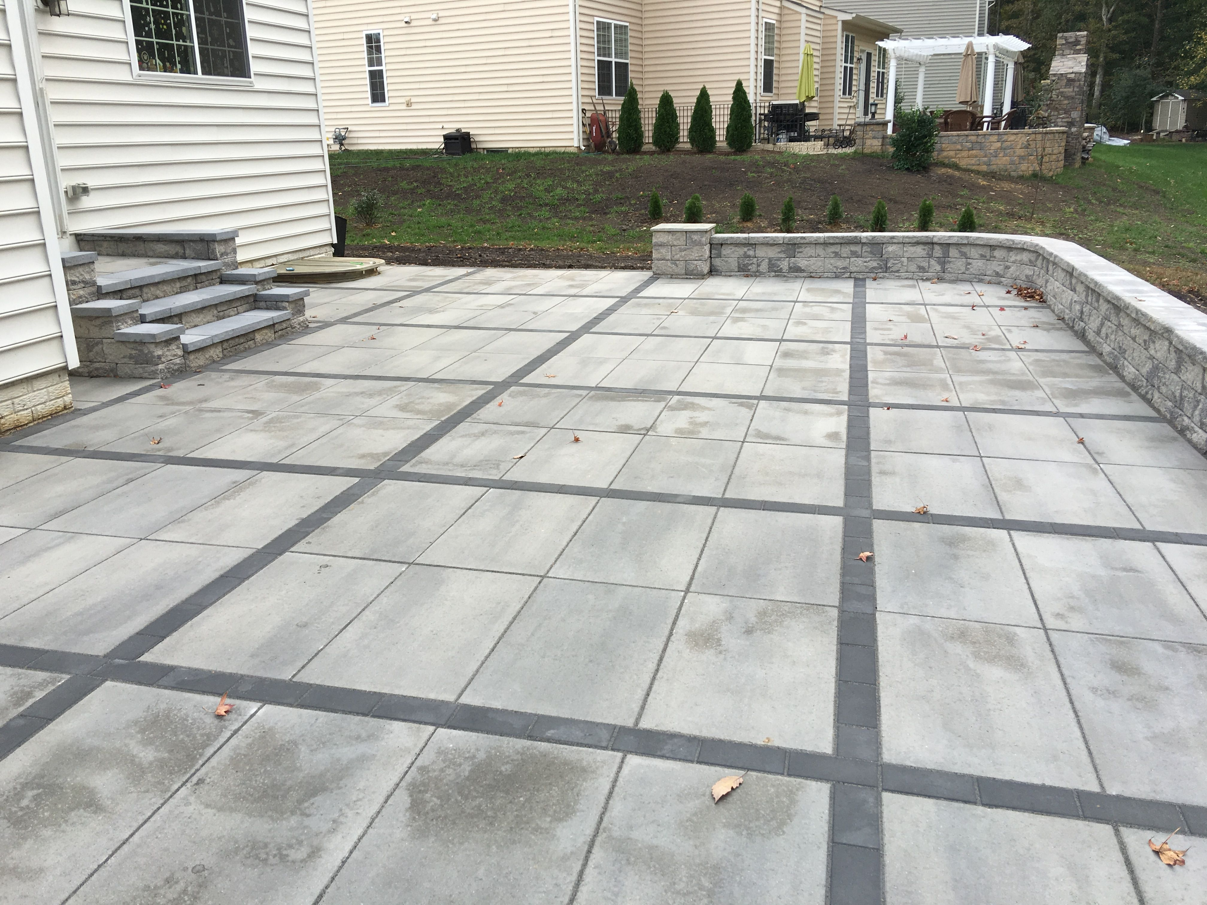 Concrete Patio Pavers Best Of Sets For Trend Home Depot Square Diy Thin Over X Interlocking Paver