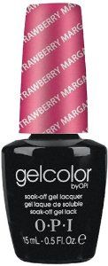 OPI Gelcolor Collection Nail Gel Lacquer, Strawberry Margarita, 0.5 Fluid Ounce by OPI. $17.79. Fast application and simple removal. Cures in 30 seconds. Proven to maintains shine after 2 weeks. Opi gelcolor collection is the new, polish-on gel formula. Soak off gel lacquer.