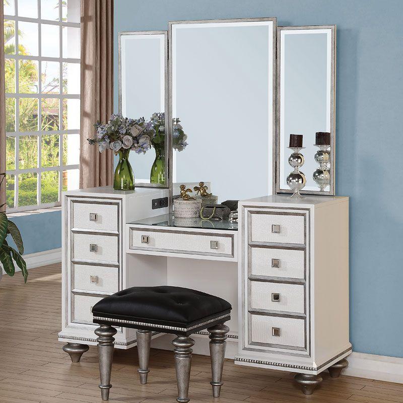 Monterrey Vanity W/ Mirror (White Pearl) Flexsteel My new vanity