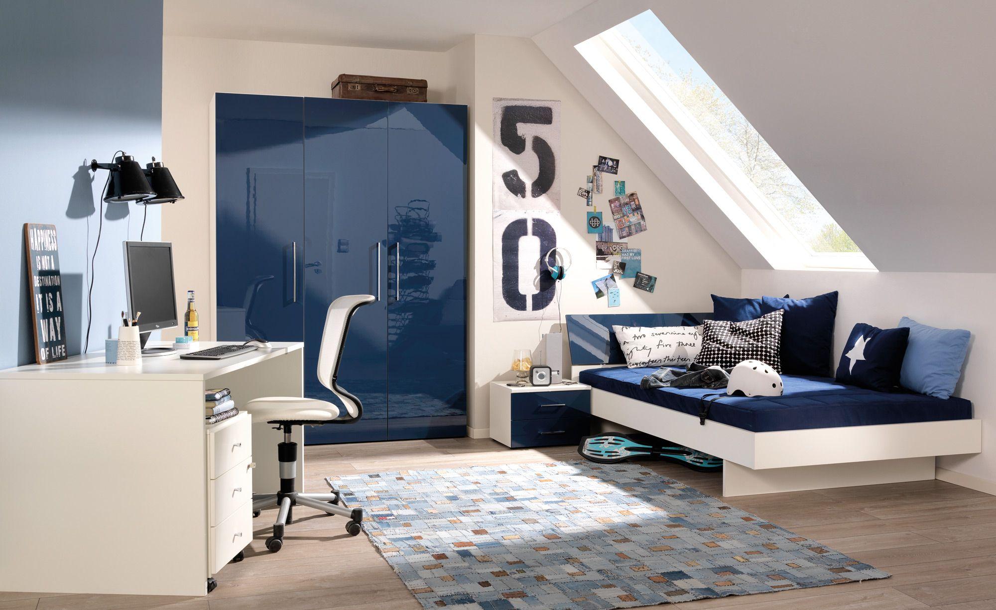 jugendzimmer in dunkelblau und creme gestalten jugendzimmer in 2019 pinterest kinder. Black Bedroom Furniture Sets. Home Design Ideas