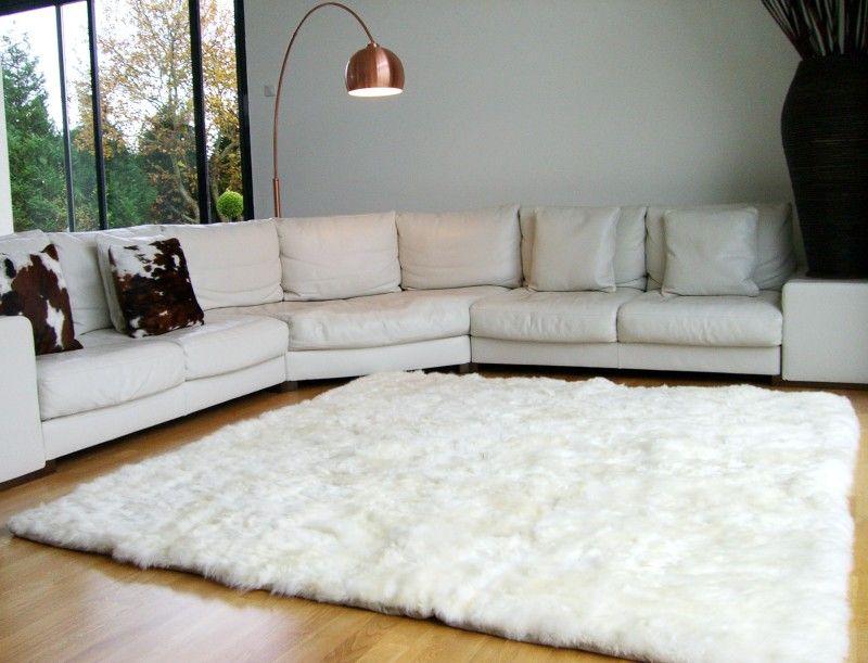 Tapis en peau de mouton blanc Appartement Pinterest Living