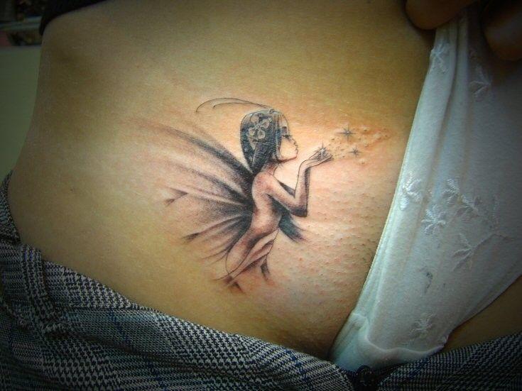 Tattoo elfe rücken