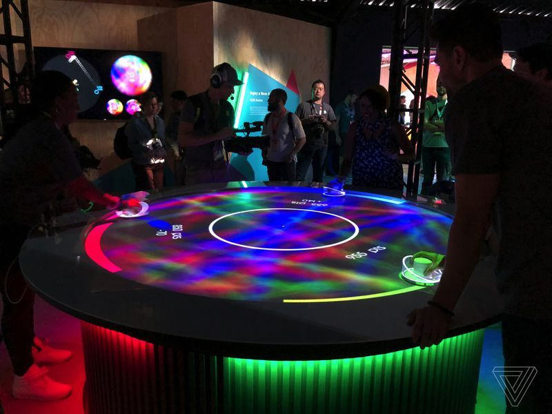 Sony S Three Player Virtual Air Hockey Table Is A Peek At The Future Of Augmented Reality Air Hockey Air Hockey Table Augmented Reality
