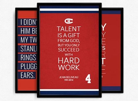 pretty nice 8a3b9 d854b Montreal Canadiens Inspirational Quotes Posters in a Package ...