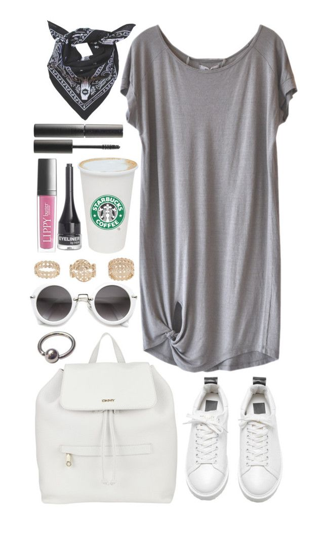 """i wouldn't mind"" by iarsotelo on Polyvore featuring Humanoid, DKNY, Topshop, Butter London, H&M y Surratt"