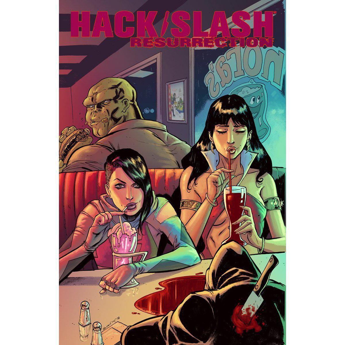 Hack Slash Resurrection 9 Cvr A Seeley Mr Hack And Slash Image Comics Cosmic Comics
