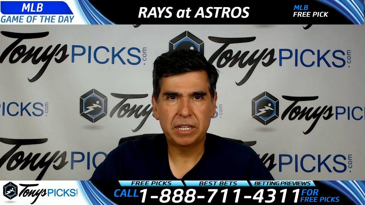 Tampa Bay Rays Vs Houston Astros Free Mlb Baseball Picks And Prediction Baseball Picks Nfl Football Picks Mlb Baseball