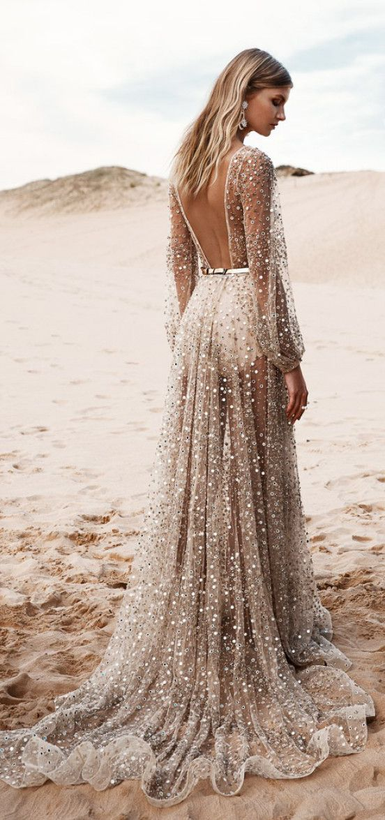 Sparkle gown inspired by i do contest pinterest for Sparkly beach wedding dresses