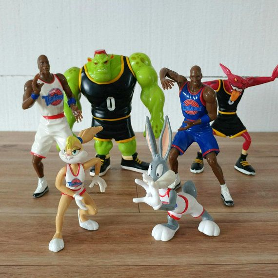 Space Jam Figurines 1996 Set Of 6 Bugs Bunny Toys Warner Bros