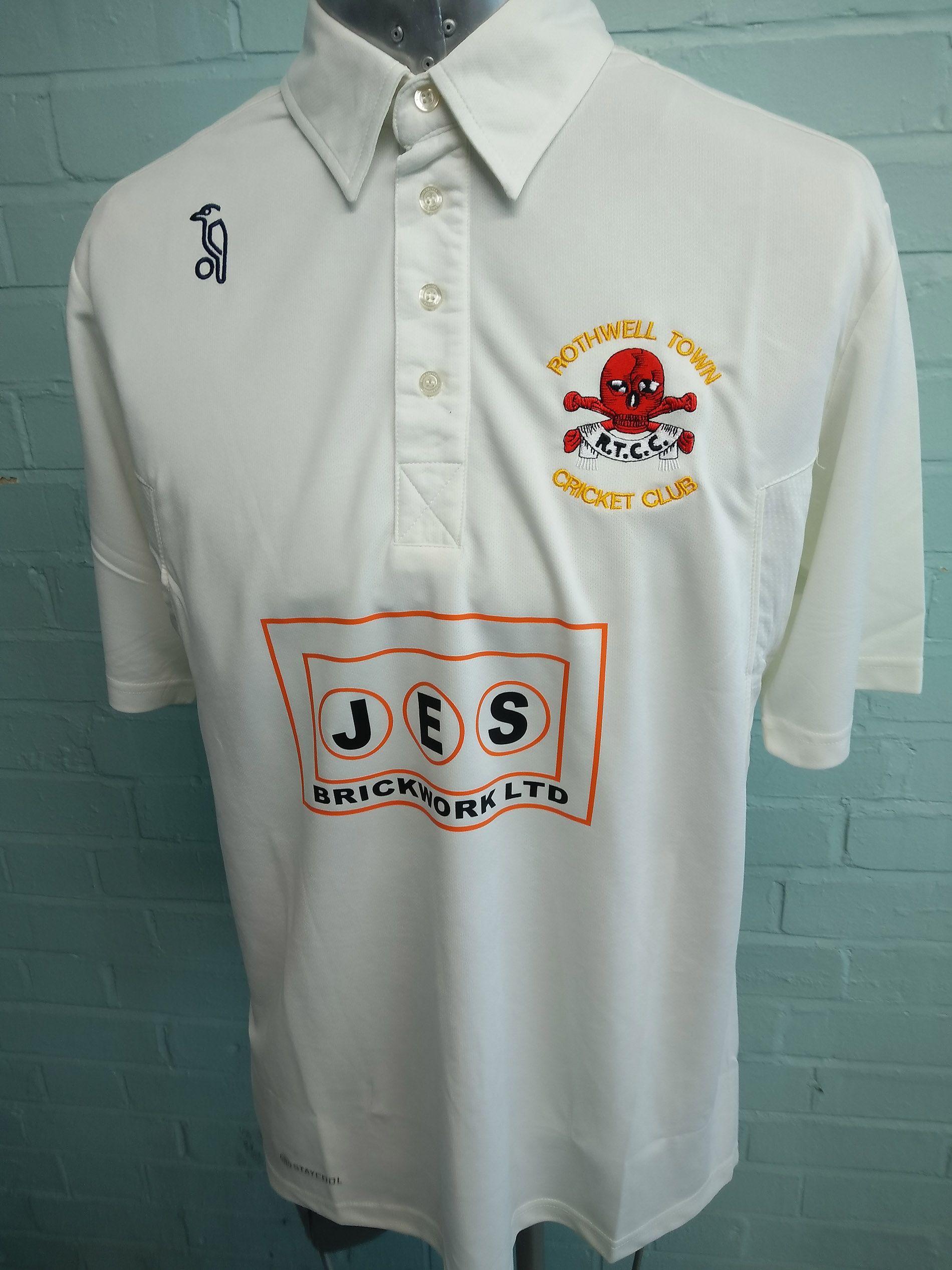 Sports Polo Tees Custom Cricket Shirts For Rothwell Town Cricket