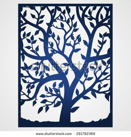 Abstract frame with tree. Suitable for lasercutting. Lazercut tree ...