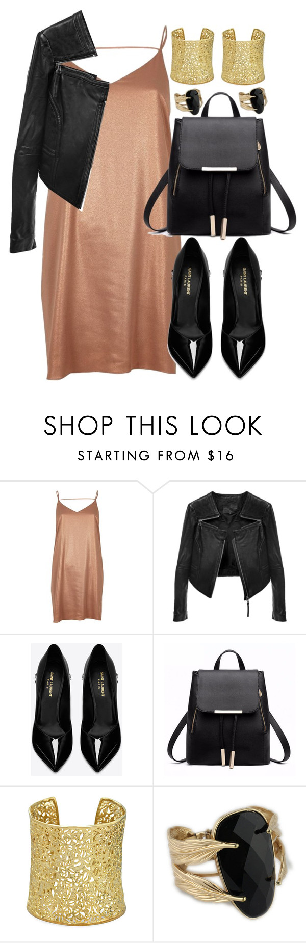 """""""Sans titre #1047"""" by annanas19 ❤ liked on Polyvore featuring River Island, Yves Saint Laurent and Kendra Scott"""