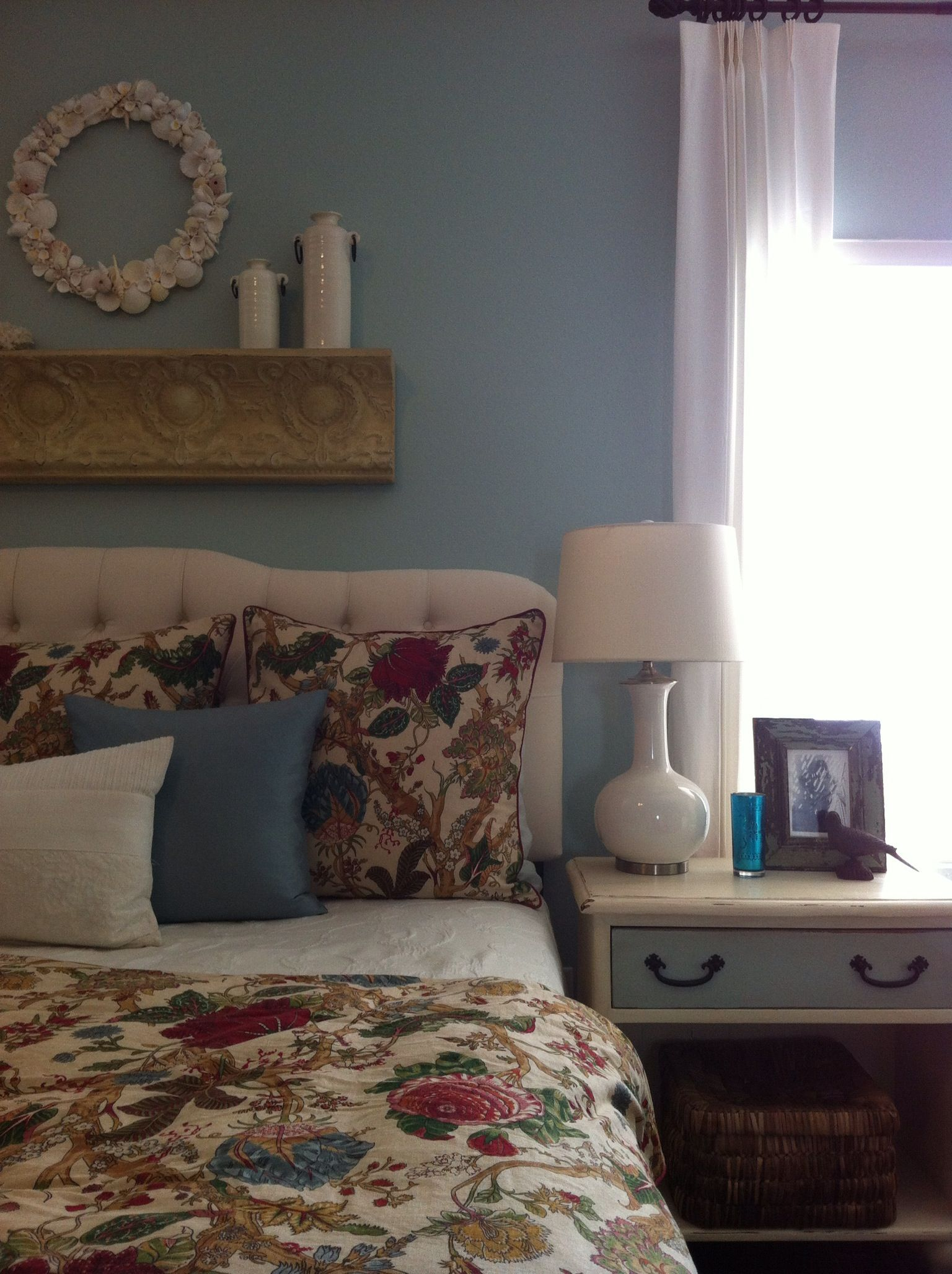 Master bedroom colorSherwin Williams Rainwashed Guest