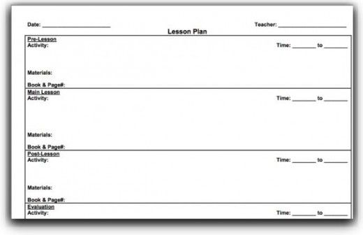 Top 10 Lesson Plan Template Forms and Websites Lesson plan - teacher lesson plan template