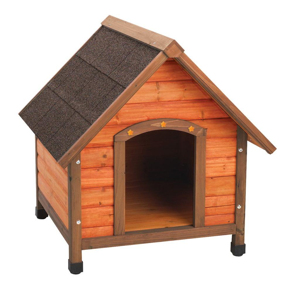 Premium Small A Frame Doghouse 01705 The Home Depot Dog House Diy Wood Dog House Wooden Dog House