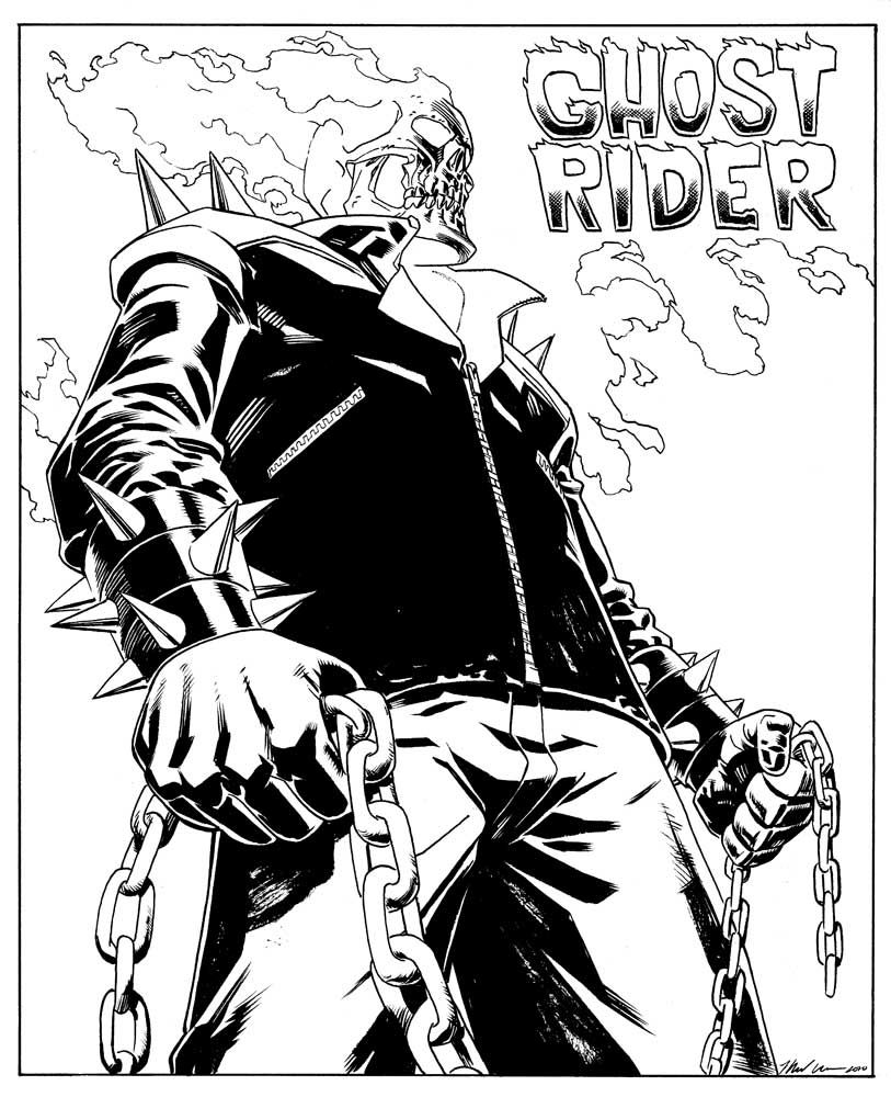 Chibi Ghost Rider Colouring Pages Ghost Rider Ghost Rider Pictures Rider