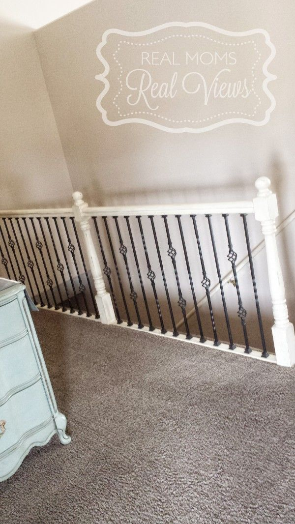 A staircase given a wonderful makeover with new iron ...
