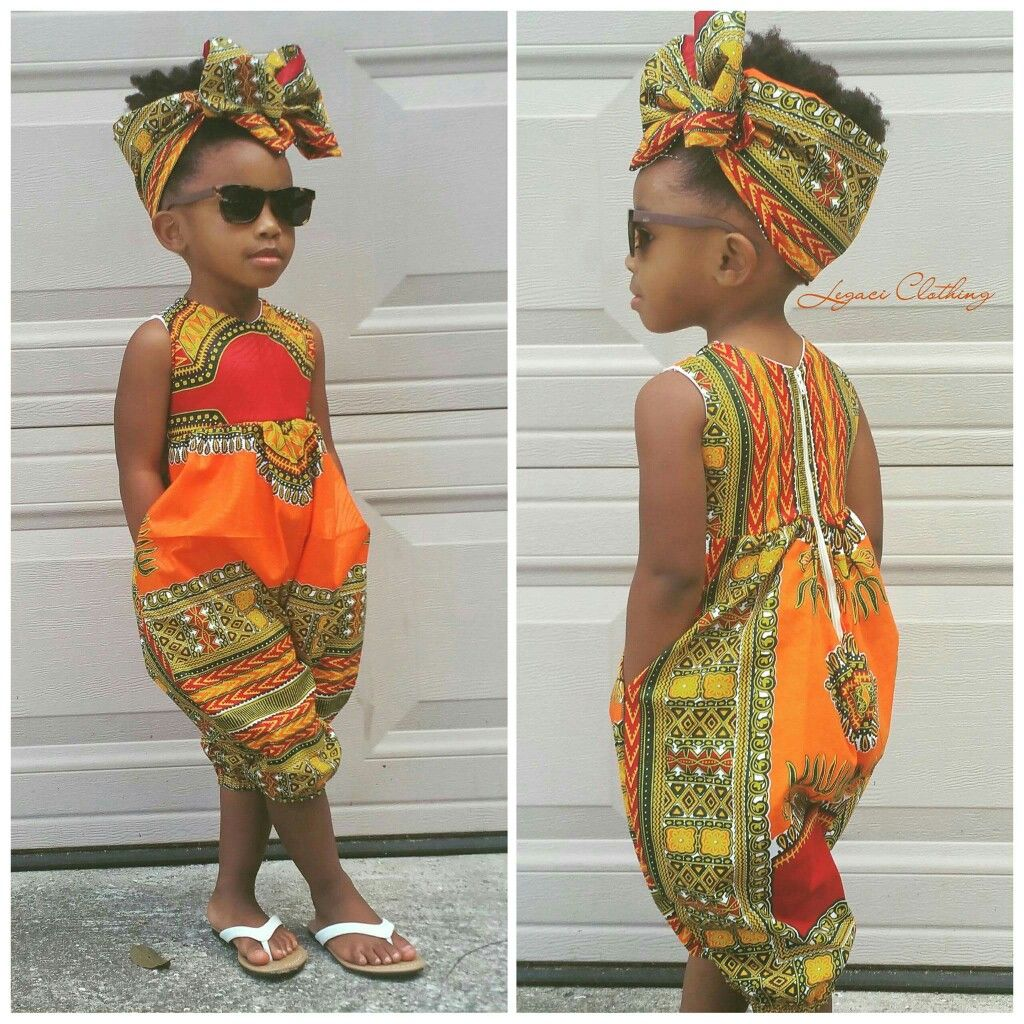 37f43efd1c80a African Print jumper rompers little girl natural hair style kid ...