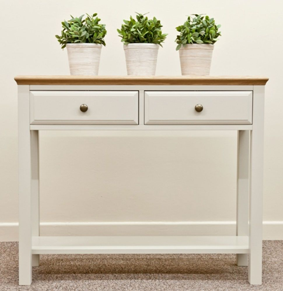 White Hallway Console Table intone hall table|hereford intone|occasional | :: solidwood