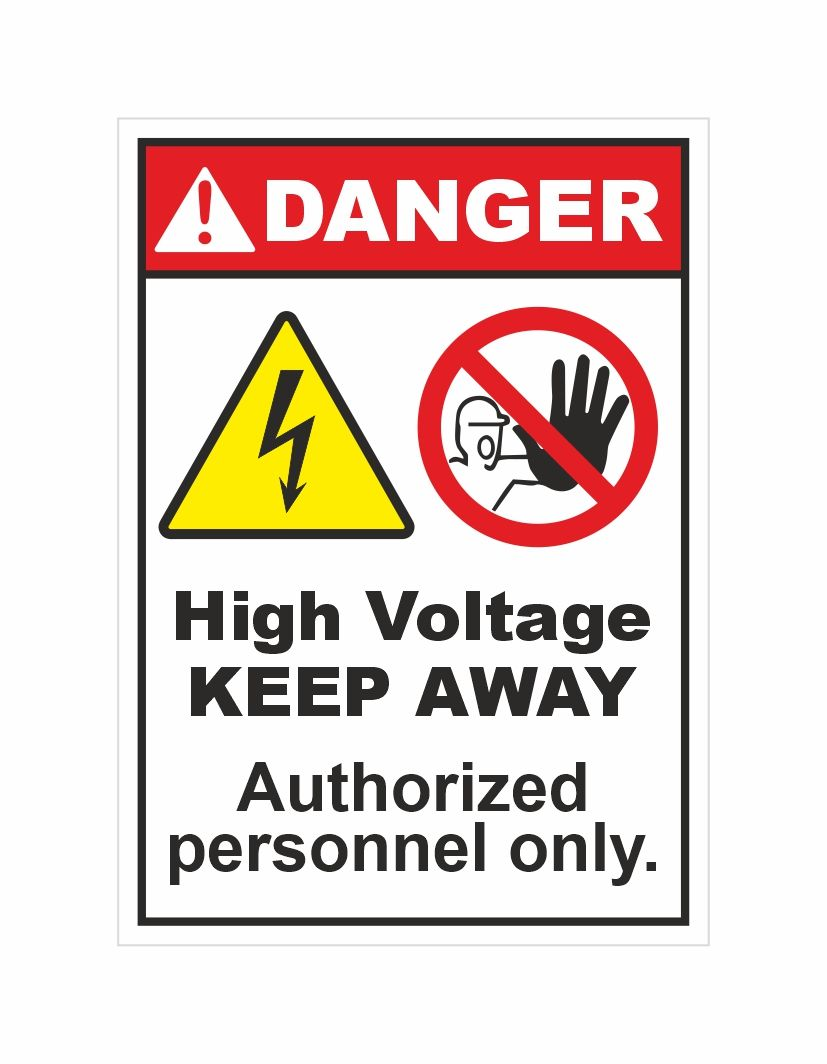 Rangvishwa Best Quality Safety Sticker Danger High Voltage Keep Away Label For Authorized Person In 2020 Authorized Personnel Only Industrial Safety High Voltage