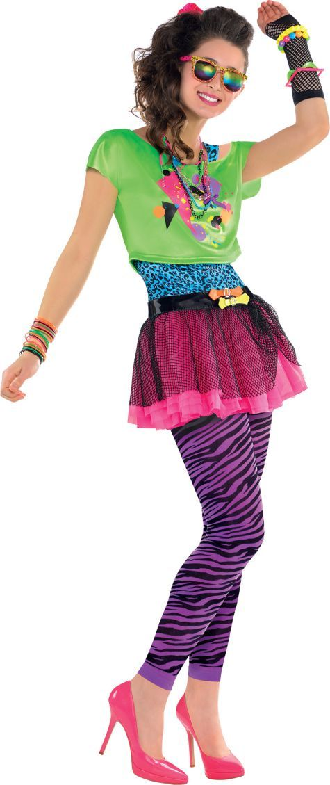 730adfdf21c Teen Girls Totally Awesome 80s Costume - Party City