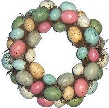 Easter Eggs Door Hang Wreath Spring Decoration Indoor Outdoor Festive Holiday