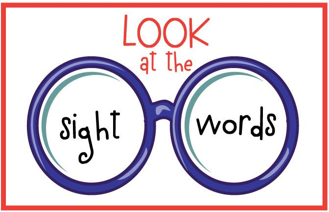 Image result for sight words clip art