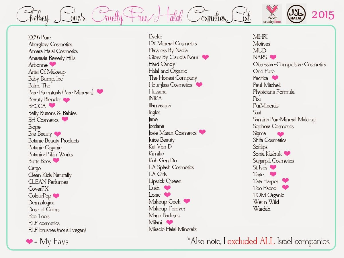 Cruelty Free Makeup List Cosmetic companies, Cruelty