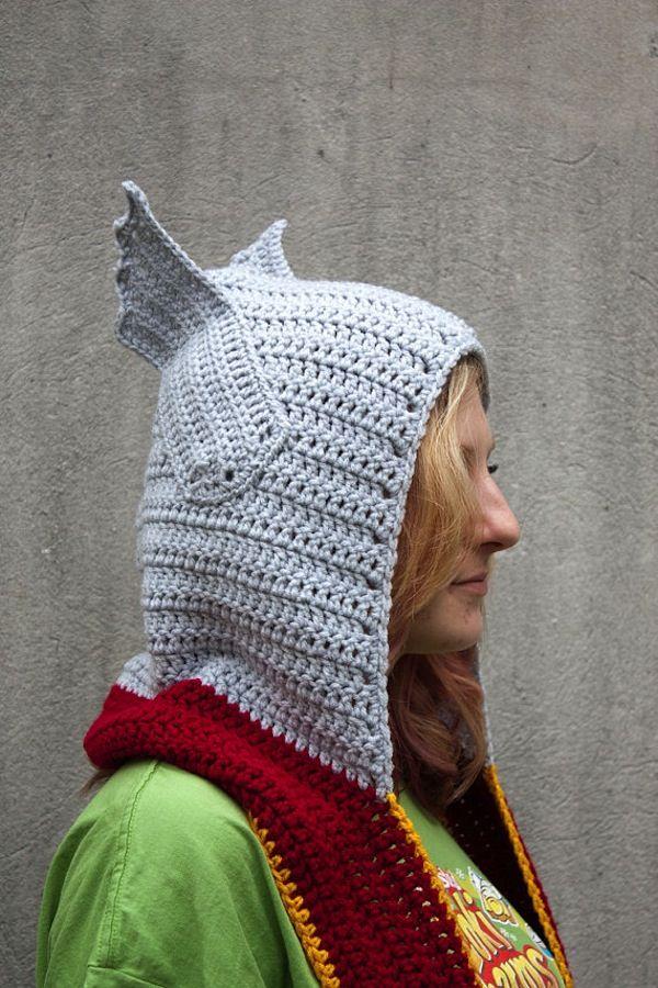 Thor crocheted hoodie-scarf b8017e10f5b