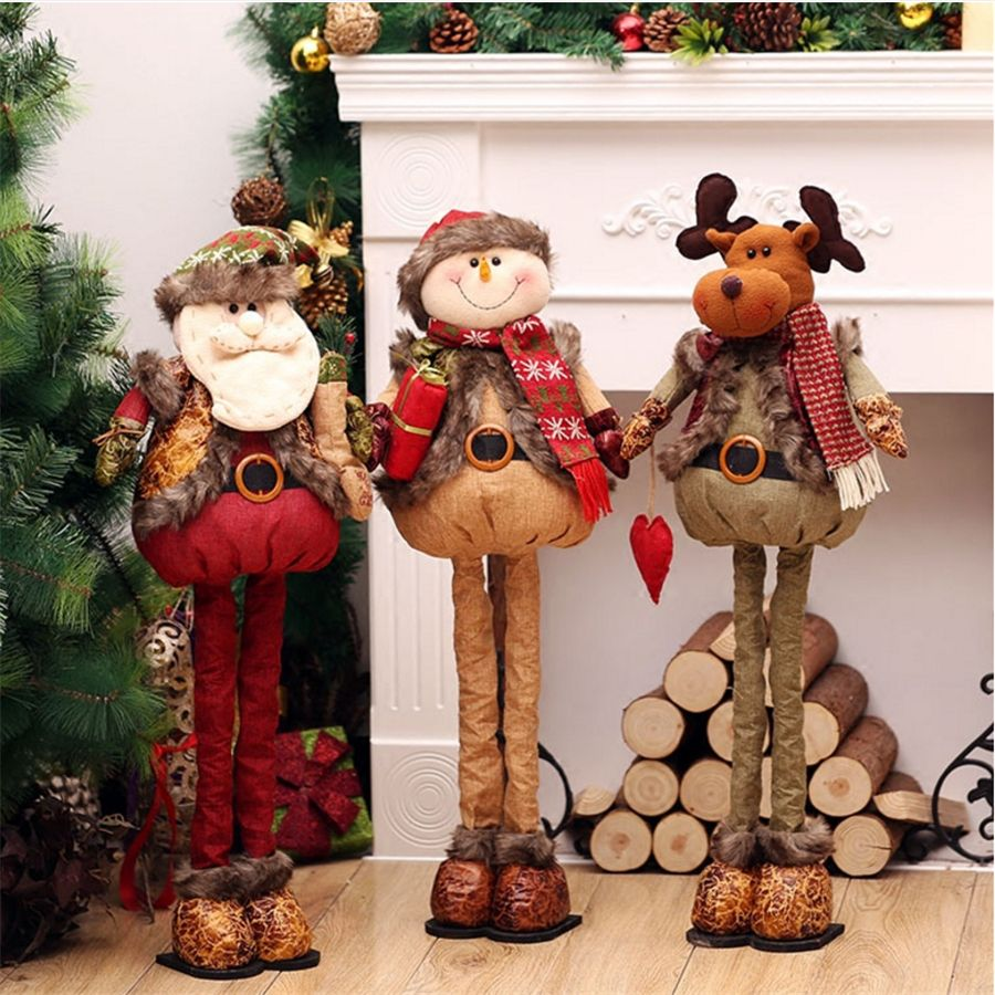 Free Shipping] Buy Best Standing Large Retractable Santa Claus ...