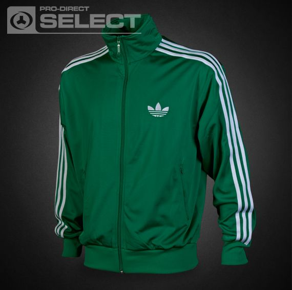 adidas originals Clothing - adidas adi Firebird Track Top - Mens Apparel -  Fairway/White