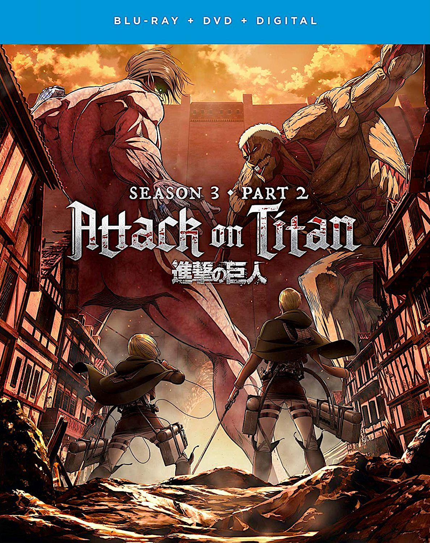 ATTACK ON TITAN SEASON 3, PART 2 BLURAY SET (FUNIMATION