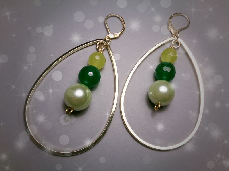 Green Gems Hope earrings #omgq! #OhMyGarQ!